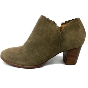 Jack Rogers Olive Green Ankle Heel Bootie Boots